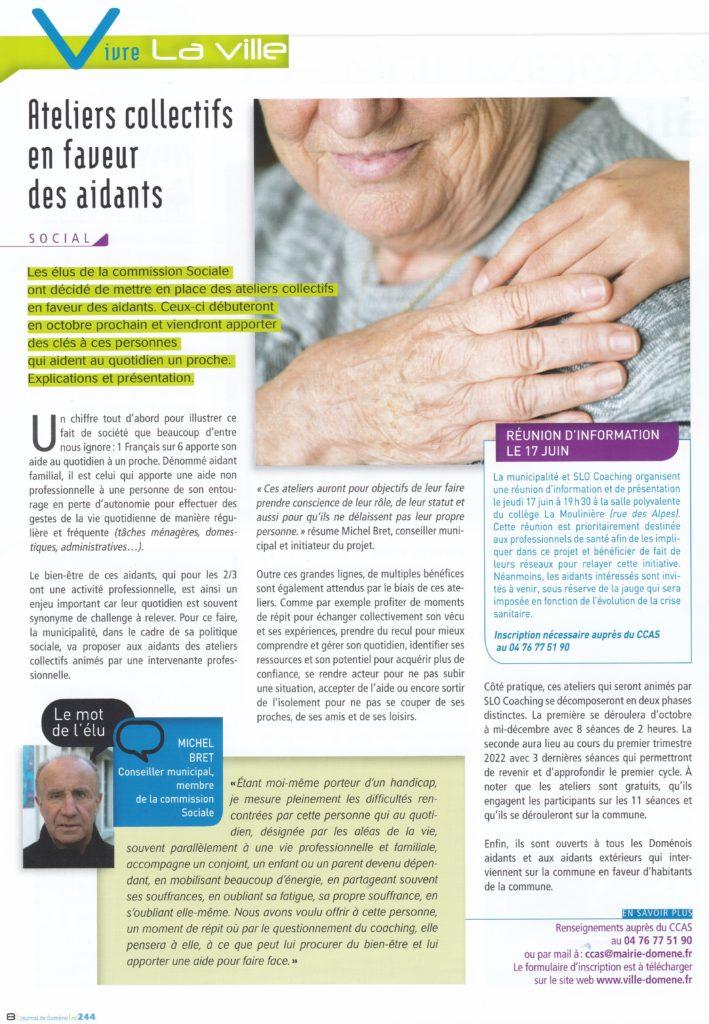 Ateliers Domene_journal